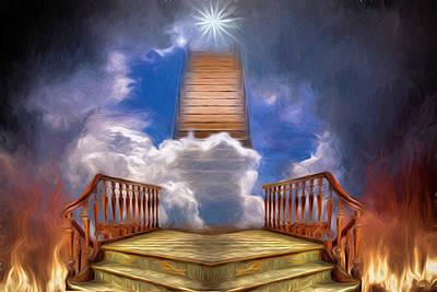 Lab Digital Art - Stairway To Heaven by John Haldane