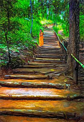 Stairway To Heaven - Paint Print by Steve Harrington