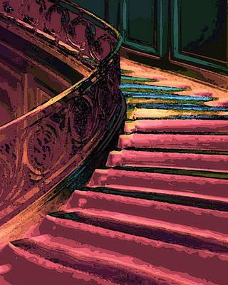 Huisken Digital Art - Stairway To Somewhere by Lyle  Huisken