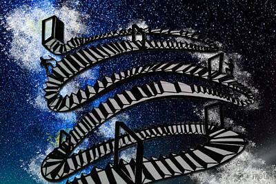 Stairways To Heaven Print by Nikhil Shinde
