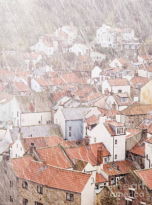 Unspoiled Art Photograph - Staithes Hail Stones by John Potter