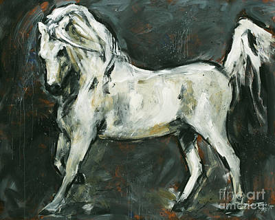 Champion Mixed Media - Stallion 1 by Denise Justice