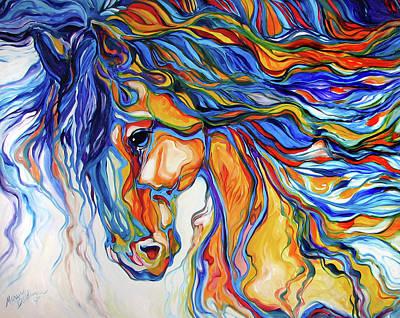 Stallion Southwest By M Baldwin Print by Marcia Baldwin