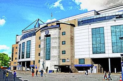 Stamford Bridge Home Of Chelsea Fc Print by Peter Allen