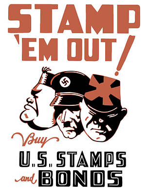 Military Gifts Painting - Stamp 'em Out - Ww2 by War Is Hell Store