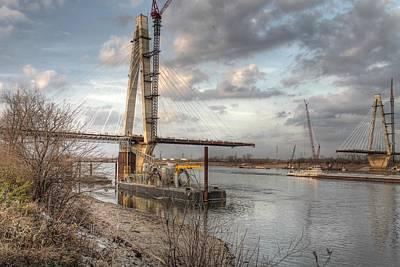 Stan Musial Photograph - Stan Musial Veterans Memorial Bridge Mississippi River by Jane Linders