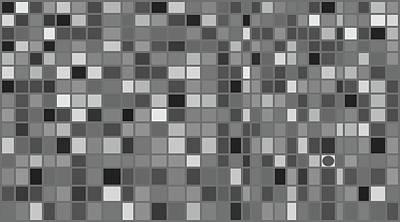 Mosaic Tesserae Tiles Digital Art - Stand Out IIi H by Stephanie Brock