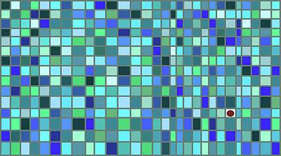 Mosaic Tesserae Tiles Digital Art - Stand Out Ix H by Stephanie Brock
