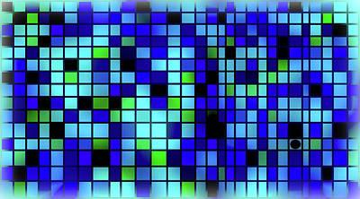 Mosaic Tesserae Tiles Digital Art - Stand Out Viii H by Stephanie Brock