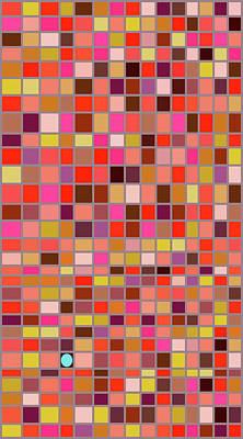 Mosaic Tesserae Tiles Digital Art - Stand Out Xii V by Stephanie Brock