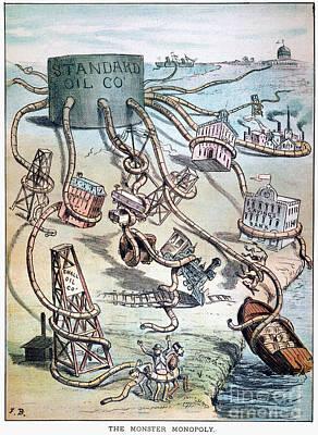 Standard Oil Cartoon Print by Granger