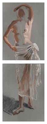 Standing Figure-diptych Print by Gideon Cohn