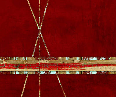 Abstract Montage Mixed Media - Standing Ground by Carol Leigh