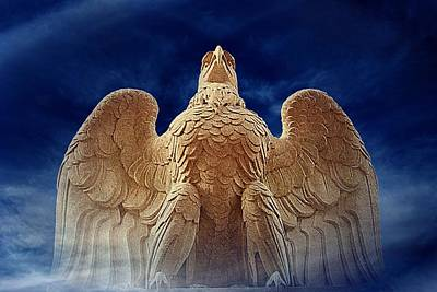 Eagle Digital Art - Standing Proud by Angie Tirado