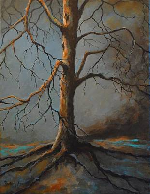 Tree Roots Painting - Standing Strong by Kimberly Benedict