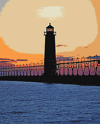 Lake Michigan Mixed Media - Standing Sure by Robert Pearson