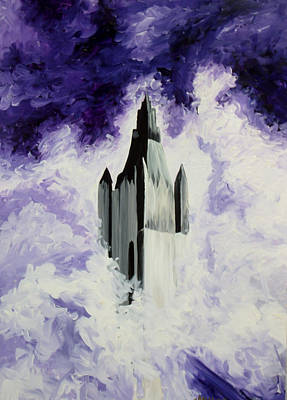 Twin Towers Nyc Painting - Standing Tall  by T Fischler