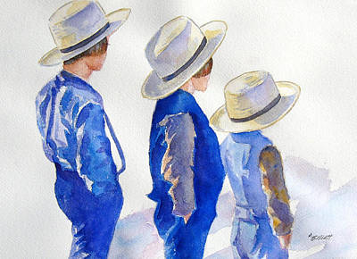 Amish Painting - Standing Watch by Marsha Elliott