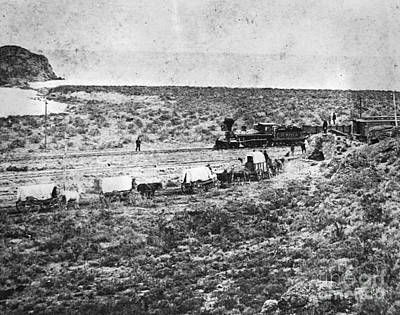 Wagon Train Photograph - Stanford En Route To Golden Spike by Omikron