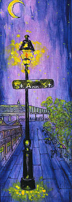 Painting - St.ann Lamp Post by Catherine Wilson