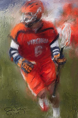 Scott Melby Painting - Stanwick Lacrosse 3 by Scott Melby