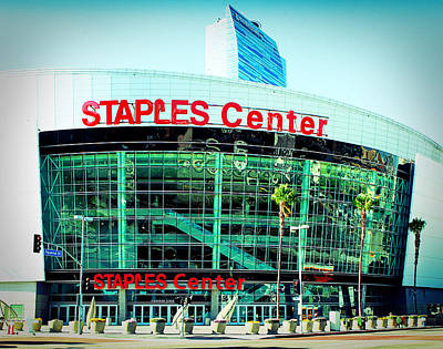 Staples Center Color Print by Ariane Moshayedi