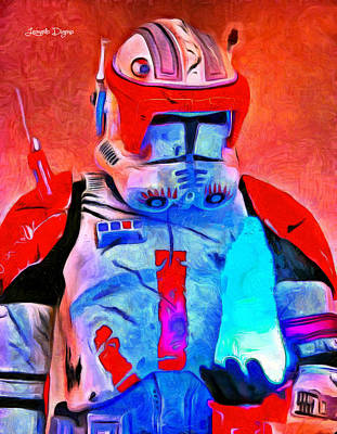 Stormtrooper Digital Art - Star Commander Cody Order 66  - Van Gogh Style -  - Da by Leonardo Digenio