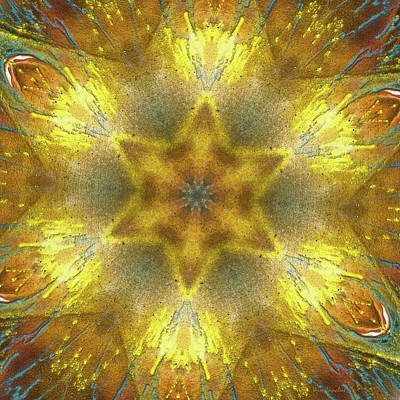 Repeating Digital Art - Star Kaleidoscope by Wim Lanclus