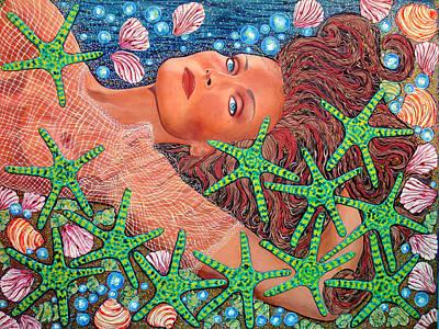 Fantasy Painting - Star Mermaid by Debbie Chamberlin