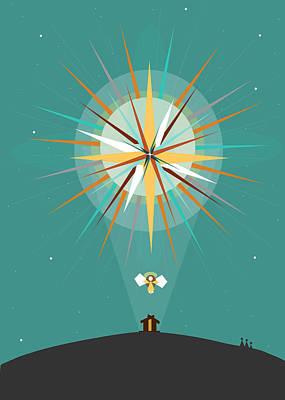 Star Of Bethlehem Print by Ann tygett Jones