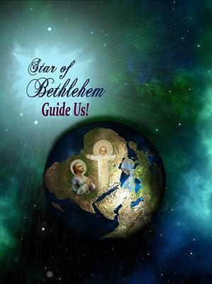 Star Of Bethlehem Print by Myrna Migala