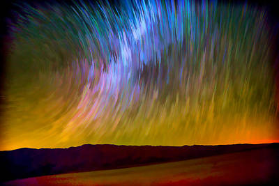 Milky Way Digital Art - Star Trails Abstract by Peter Tellone