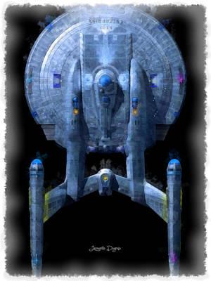 Enterprise Digital Art - Star Trek Enterprise Top - Da by Leonardo Digenio