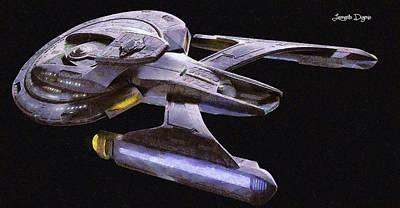 Galaxy Painting - Star Trek Luna by Leonardo Digenio