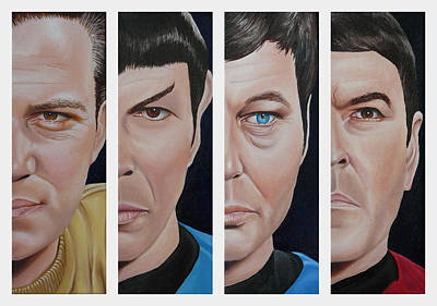 Captain Kirk Painting - Star Trek Set One by Vic Ritchey