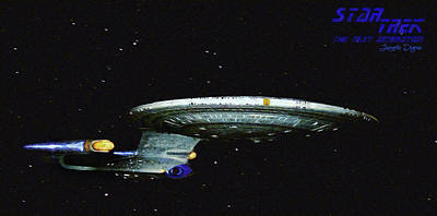 Space Painting - Star Trek The Next Generation by Leonardo Digenio