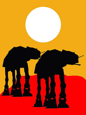 Starwars Mixed Media - Star Wars At-at Collection by Marvin Blaine