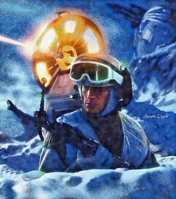 Rescue Digital Art - Star Wars Battle Of Hoth  - Wax Style -  - Da by Leonardo Digenio