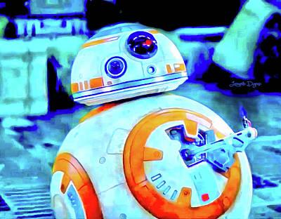 Thumbs Painting - Star Wars Bb-8 Thumbs Up - Vivid Aquarell Style by Leonardo Digenio