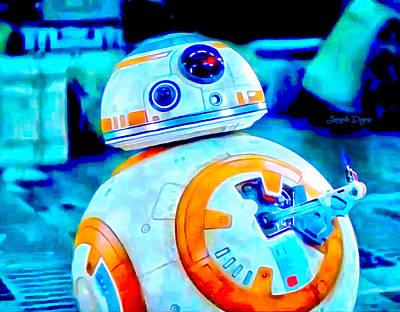 Thumbs Digital Art - Star Wars Bb-8 Thumbs Up  - Vivid Aquarell Style -  - Da by Leonardo Digenio