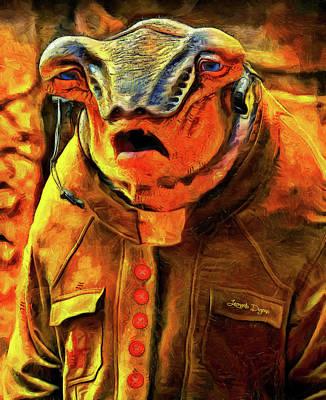 Frog Painting - Star Wars Bollie Prindel by Leonardo Digenio