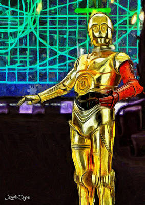 Command Painting - Star Wars C3-po by Leonardo Digenio