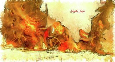 Destruction Painting - Star Wars Crash by Leonardo Digenio