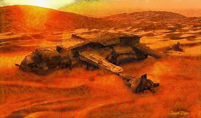 Star Wars Dead In The Desert - Da Print by Leonardo Digenio