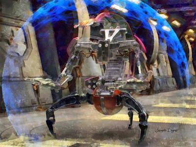 You Digital Art - Star Wars Destroyer Droid  - Aquarell Style -  - Da by Leonardo Digenio