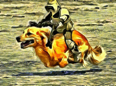 Boba Fett Painting - Star Wars Dog-jet by Leonardo Digenio
