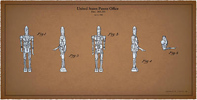 R2d2 Photograph - Star Wars - Droid Patent by Mark Rogan