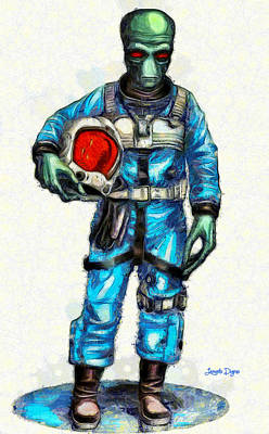 Cloak Painting - Star Wars Duro Pilot - Pa by Leonardo Digenio