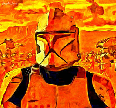 New Painting - Star Wars Field Trooper Commander - Pa by Leonardo Digenio