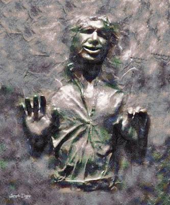 Adult Digital Art - Star Wars Han Solo In Carbonite - Da by Leonardo Digenio